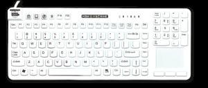 really cool touch tastatur Man & Machine desinfizierbare Tastaturen Mäuse hygienekritische Bereiche Gesundheitswesen Krankenhaus Medizin Infektionskontrolle geräuschlos Hygienetastatur Medizintastatur Desinfektion Komfort IP68