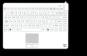 slim cool + tastatur Man & Machine desinfizierbare Tastaturen Mäuse hygienekritische Bereiche Gesundheitswesen Krankenhaus Medizin Infektionskontrolle geräuschlos Hygienetastatur Medizintastatur Desinfektion Komfort IP68