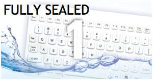 feature 1 fully sealed Man Machine logo hygienic waterproof keyboards mice clean with alcohol clean with chloride silent typing use keyboard in hospital
