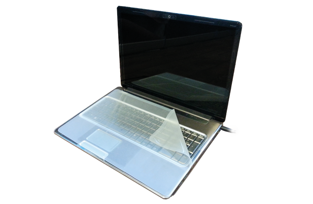 laptop drape shade Man Machine logo hygienic waterproof keyboards mice clean with alcohol clean with chloride silent typing use keyboard in hospital.png