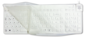 really cool keyboard with drape keyboard shade Man Machine logo hygienic waterproof keyboards mice clean with alcohol clean with chloride silent typing use keyboard in hospital