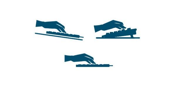 4. True of False: A flat keyboard is more ergonomic than an upward angled keyboard?