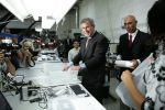 In July 2007, Broumand gave President George W. Bush a tour of the Man & Machine keyboard manufacturing facility.