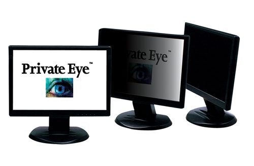 Private Eye Monitor Shown at 3 angles.